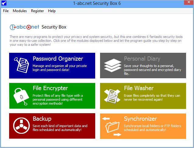 Click to view 1-abc.net Security Box 5.00 screenshot