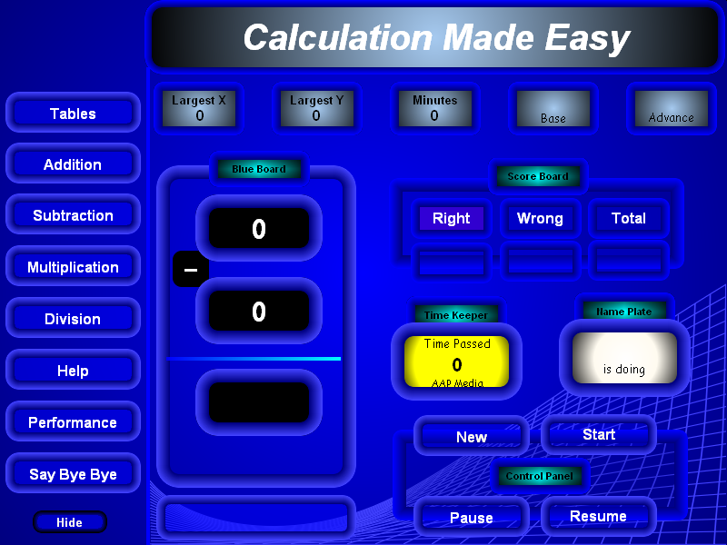 Click to view Calculation Made Easy 4.1 screenshot