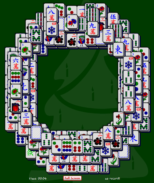 Click to view Christmas Wreath Mahjong Solitaire 1.0 screenshot
