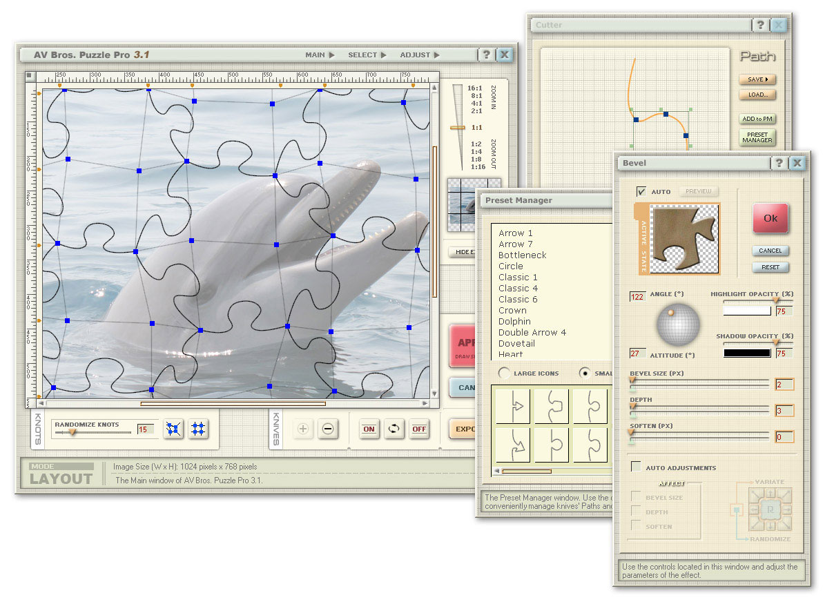 Click to view AV Bros. Puzzle Pro for Windows 3.1 screenshot