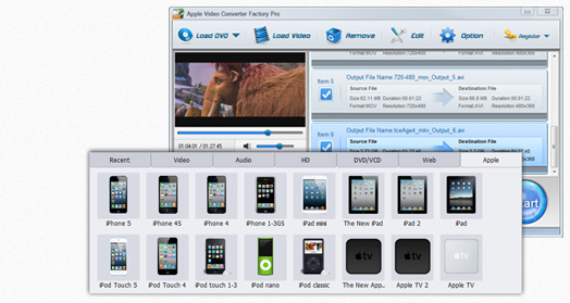 Click to view Apple Video Converter Factory Pro 6 screenshot