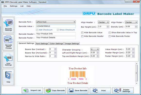Click to view Barcode Label Maker 6.0.1.5 screenshot
