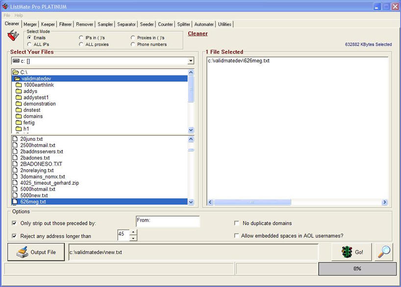 Click to view LM Plat- Email List Management Software 2.13 screenshot