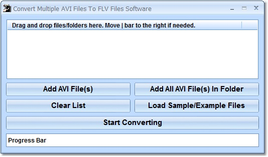 Click to view Convert Multiple AVI Files To FLV Files Software 7.0 screenshot