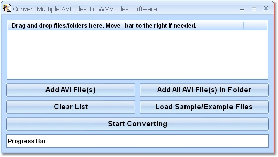 Click to view Convert Multiple AVI Files To WMV Files Software 7.0 screenshot