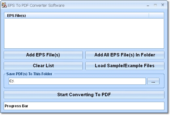Click to view EPS To PDF Converter Software 7.0 screenshot