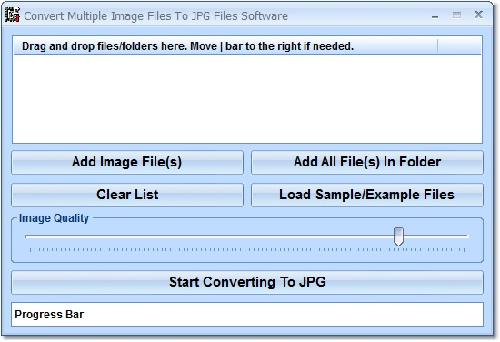 Click to view Convert Multiple Image Files To JPG Files Software 7.0 screenshot