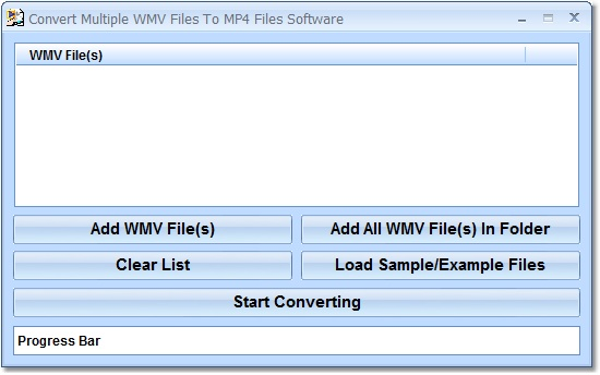 Click to view Convert Multiple WMV Files To MP4 Files Software 7.0 screenshot
