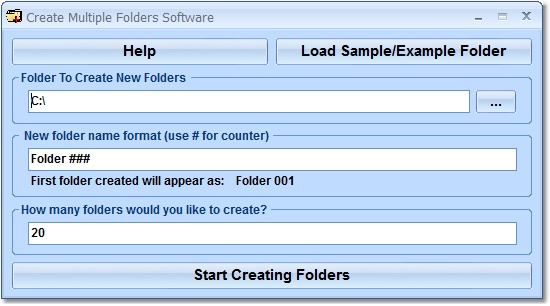 Click to view Create Multiple Folders Software 7.0 screenshot