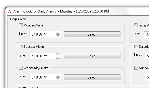 Click to view Alarm Clock for Daily Alarms 1.0 screenshot