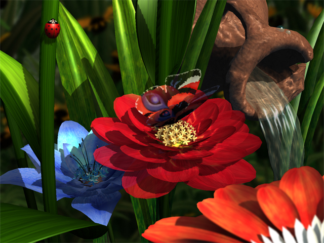 Click to view Garden Flowers 3D Screensaver 1.2 screenshot