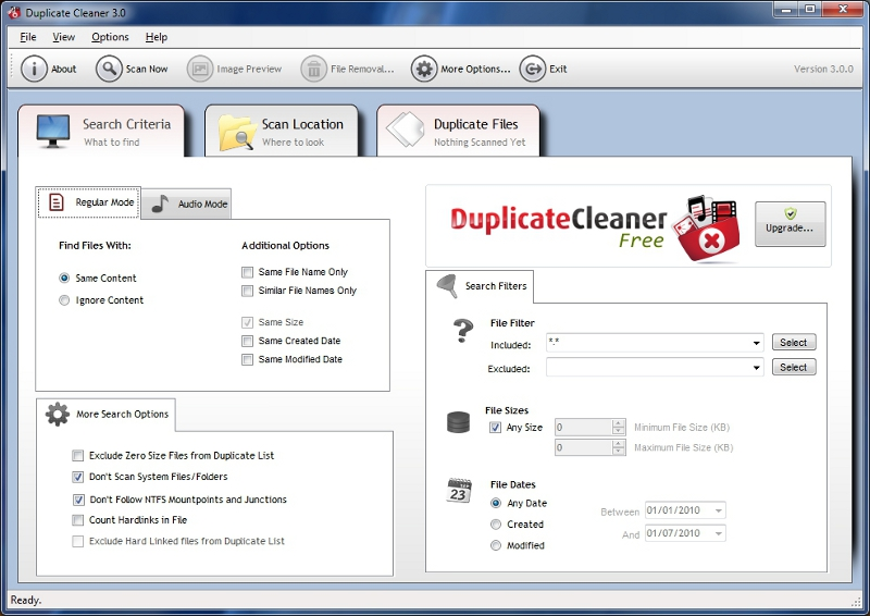 Click to view Duplicate Cleaner Free 3.2.4 screenshot