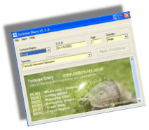 Click to view Tortoise Diary 1.8 screenshot