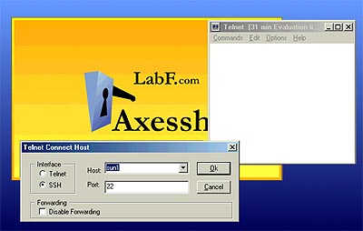 Click to view Axessh Windows SSH Client and SSH Server 4.0 screenshot