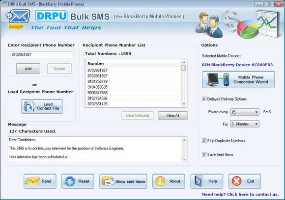 Click to view Group Software BlackBerry 6.0.1.4 screenshot