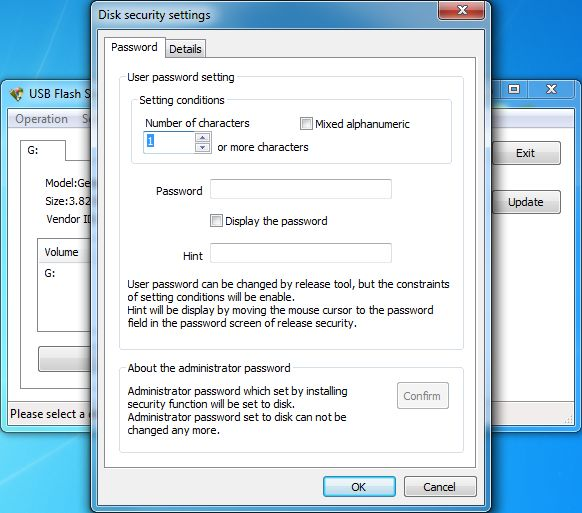 Click to view USB Flash Security+g 4.1.10 screenshot