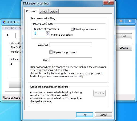 Click to view USB Flash Security#g 4.1.10 screenshot