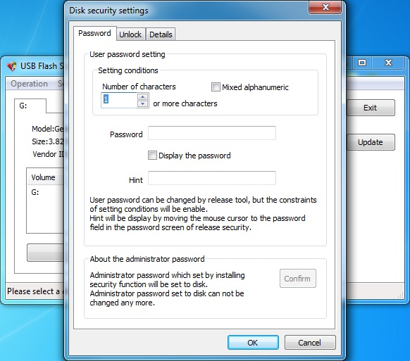 Click to view USB Flash Security##g 4.1.10 screenshot