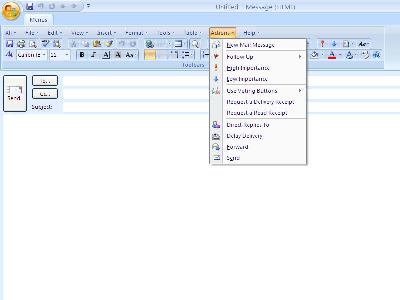 Click to view Classic Menu for Outlook 2007 7.00 screenshot