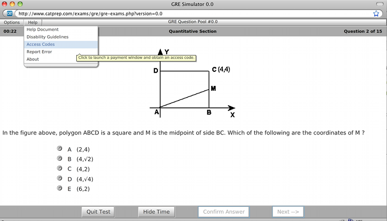Click to view GRE Test Simulator 5.0.0 screenshot