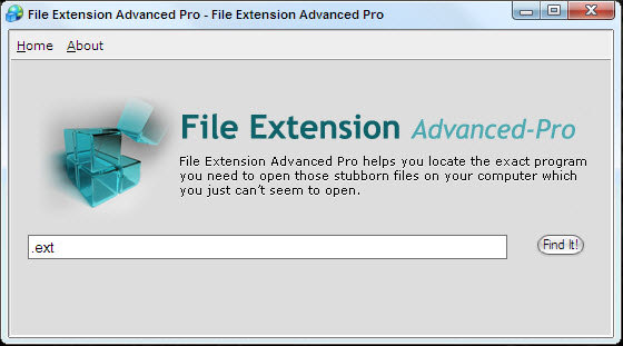 Click to view File Extension Advanced Pro 1 screenshot