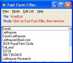 Click to view Fast Form Filler 4.0.0 screenshot