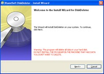 Click to view DiskDeleter 1.0.2 screenshot