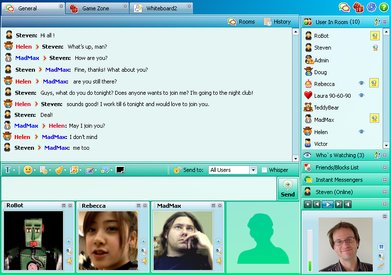 Click to view Flashcoms Community Chat 6.5 screenshot