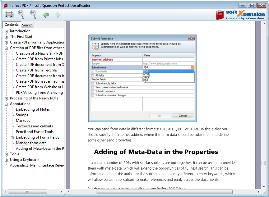 Click to view Perfect DocuReader 7 screenshot