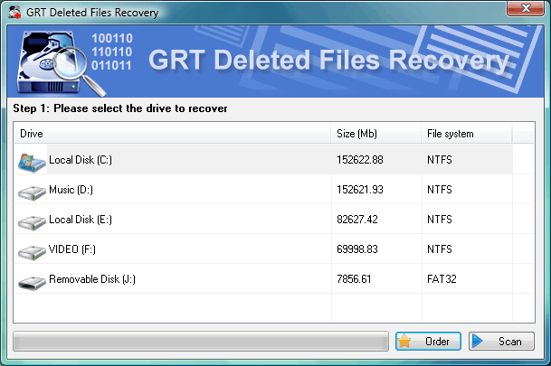 Click to view GRT Recover Deleted Folder 2.6.11 screenshot