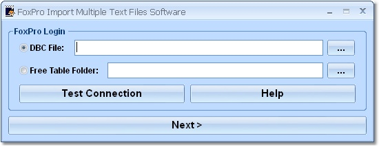 Click to view FoxPro Import Multiple Text Files Software 7.0 screenshot
