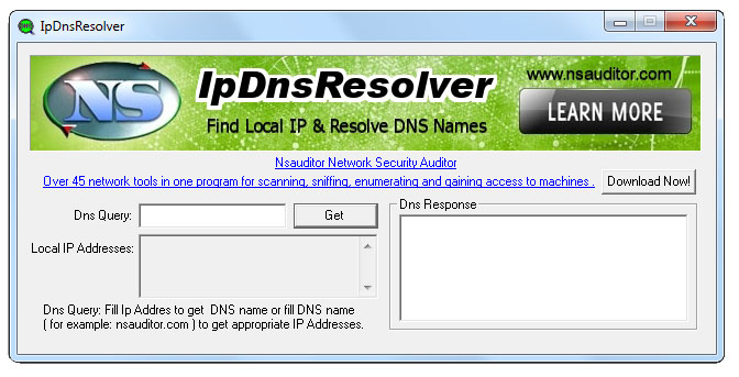 Click to view IpDnsResolver 1.4.5 screenshot