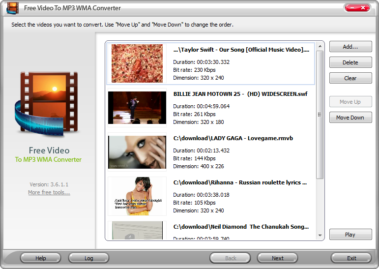 Screenshot for Free YouTube to MP3 WMA Converter 4.2.7