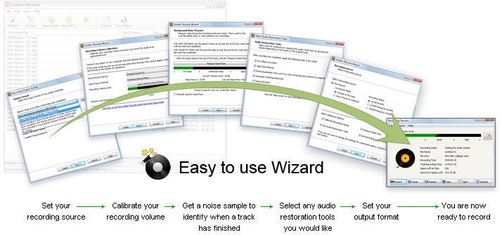 Click to view Golden Records Vinyl to CD/MP3 Converter 2.06 screenshot