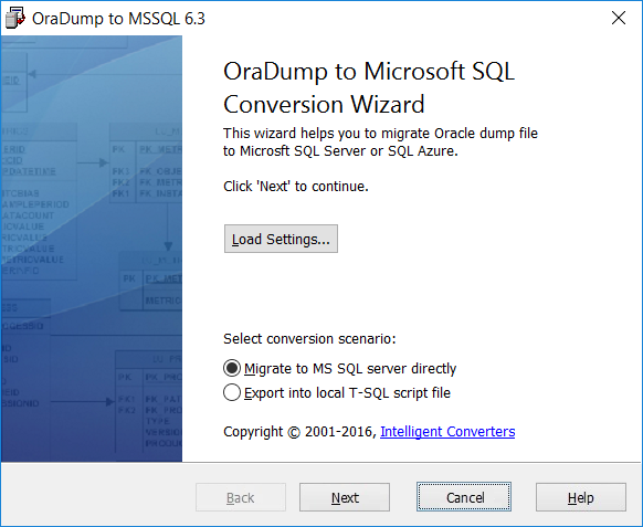 Click to view OraDump-to-MSSQL 5.5 screenshot