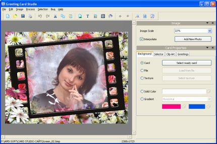 Click to view Greeting Card Studio 5.67 screenshot