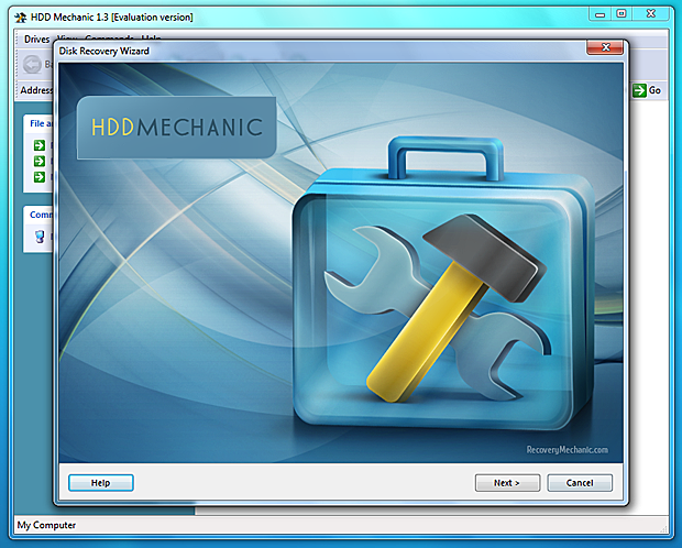 Click to view HDD Mechanic 1.63.6 screenshot