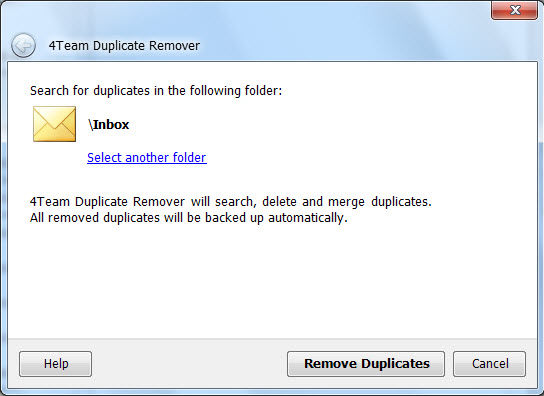 Click to view Duplicate Remover for Outlook 3.21 screenshot