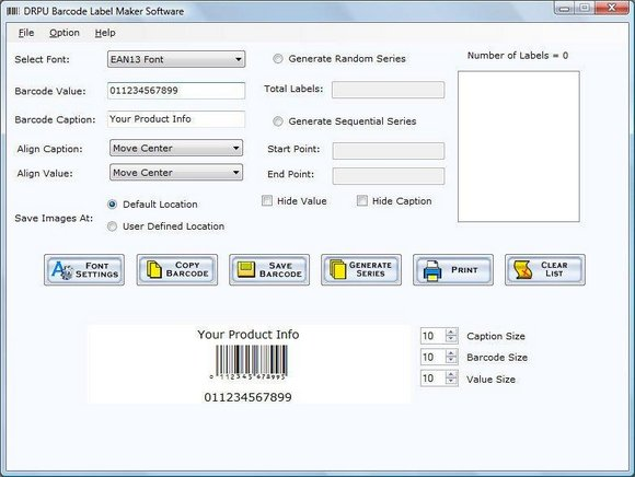 Click to view Barcode Label Design Application 5.0.1.5 screenshot