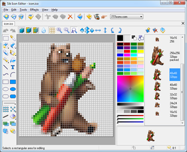 Click to view Sib Icon Editor 5.15 screenshot