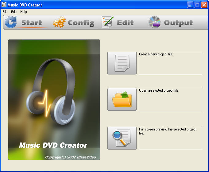Click to view Music DVD Creator 2.0 screenshot