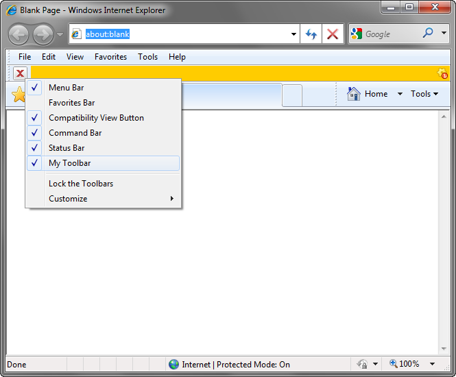 Click to view Add-in Express for Internet Explorer 2010 screenshot