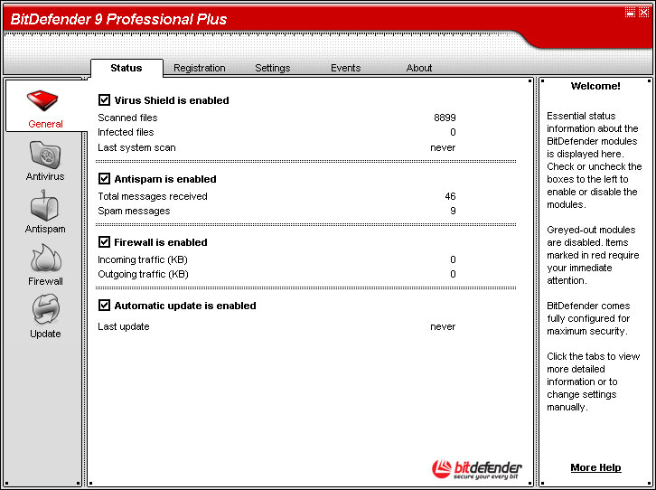 Click to view BitDefender Professional Plus 9 screenshot