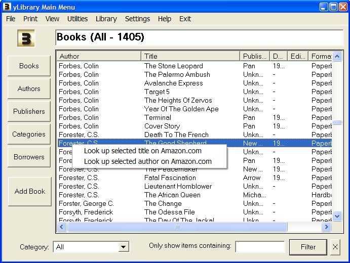 Click to view BookDB 2.2.40 screenshot