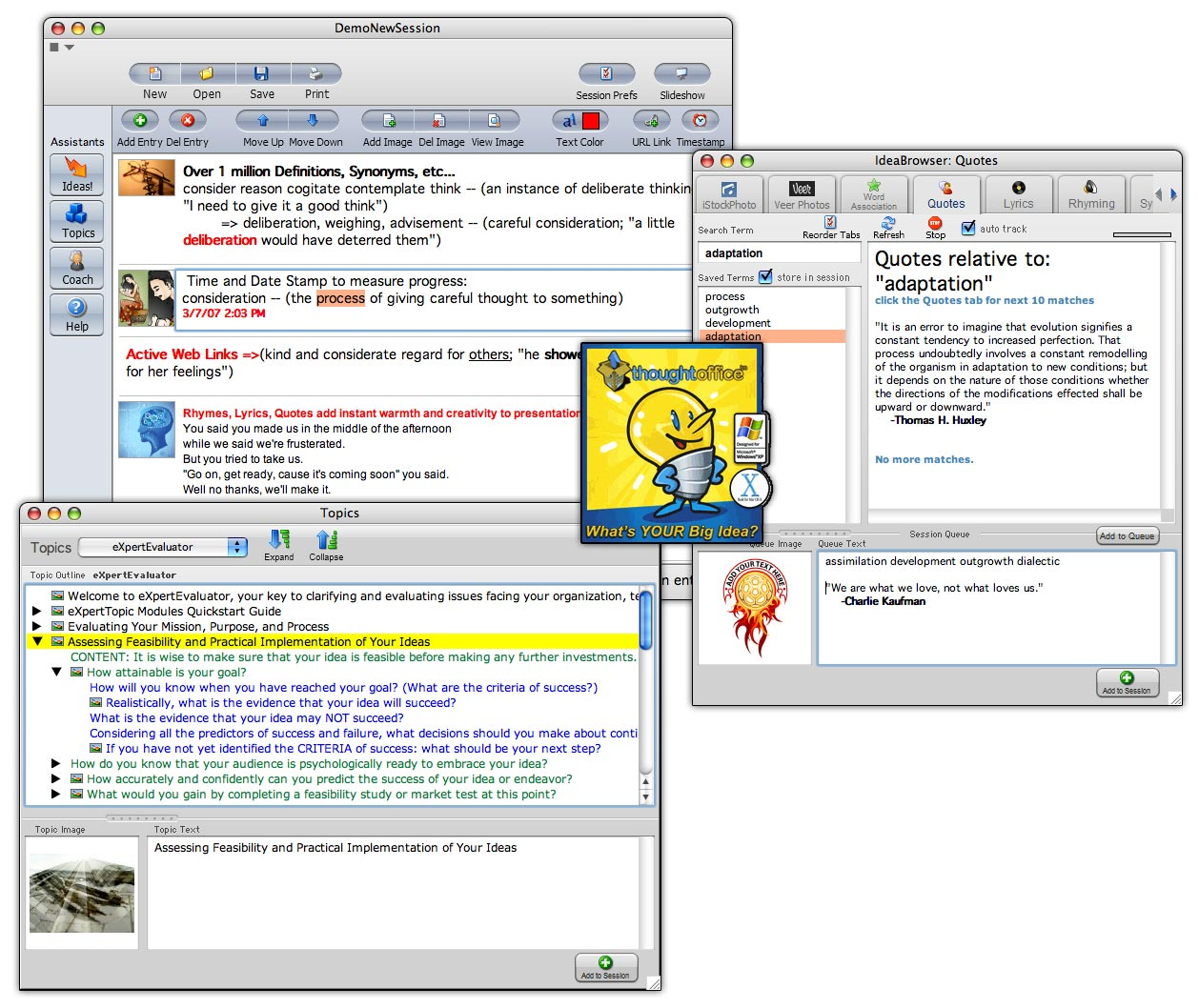 Click to view IdeaFisher 8.1.0 screenshot