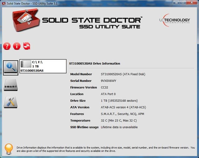 Click to view Solid State Doctor 3.1.1.8 screenshot
