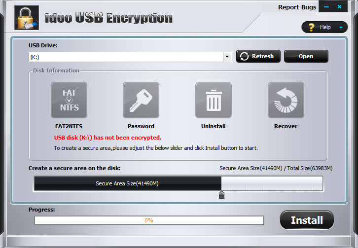 Click to view idoo USB Encryption 3.0 screenshot