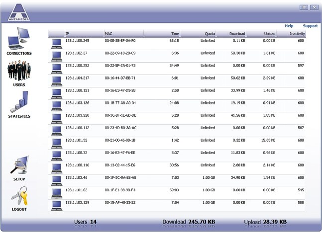 Click to view Bandwidth Manager Software 3.0.0 screenshot