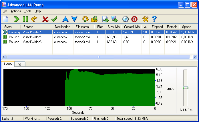 Click to view Advanced LAN Pump 3.0 screenshot