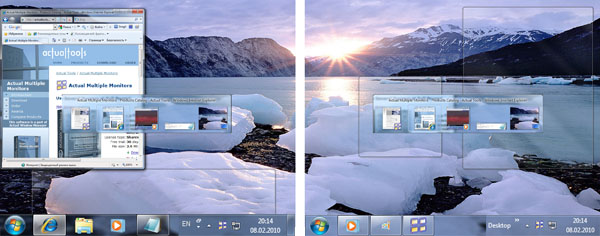 Click to view Actual Multiple Monitors 8.1.1 screenshot